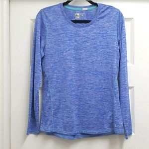 RBX heathered blue & turqoise longsleeve